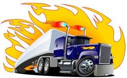 De vector Semi Vrachtwagen van het Beeldverhaal. vector illustratie