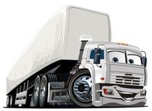De vector Semi Vrachtwagen van het Beeldverhaal Royalty-vrije Stock Foto's