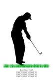 De vector Silhouetten van de Golfspeler stock illustratie