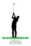 De vector Silhouetten van de Golfspeler royalty-vrije illustratie