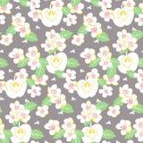 De vector stileerde bloemen kleurrijke trillende naadloze patroontextuur vector illustratie