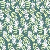De vector stileerde bloemen kleurrijke trillende naadloze patroontextuur royalty-vrije illustratie