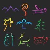 De vector Symbolen van Kerstmis Royalty-vrije Stock Fotografie
