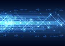 De vector toekomstige technologie van netwerktelecommunicatie, abstracte achtergrond Royalty-vrije Stock Foto's