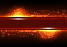 De vector toekomstige technologie van netwerktelecommunicatie, abstracte achtergrond Stock Foto's