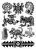 De vector traditionele patronen van de Indiaan Stock Afbeelding