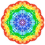De vector trillende cirkel van de regenboogcaleidoscoop Royalty-vrije Stock Foto's