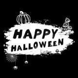 De vector uitstekende Gelukkige illustratie van Halloween l Stock Afbeelding