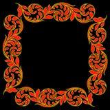 De vector uitstekende gravure van het grenskader met retro ornamentpatroon Decoratief ontwerp Royalty-vrije Stock Foto's