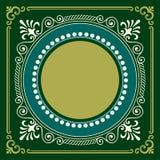 De vector uitstekende gravure van het grenskader met retro ornamentvector Royalty-vrije Stock Afbeelding
