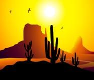 De Vector van Arizona van de monumentenvallei Vector Illustratie
