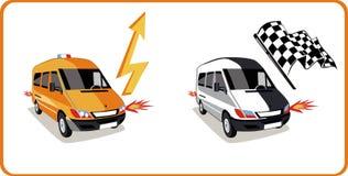 De vector van auto's vector illustratie