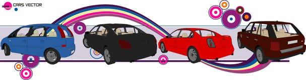 De vector van auto's Royalty-vrije Stock Afbeelding