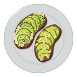 De Vector van de avocadotoost vector illustratie