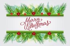 De vector van de de bannerkaart van Kerstmisgroeten vector illustratie