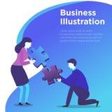 De Vector van de bedrijfsmensenillustratie royalty-vrije illustratie