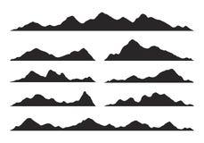 De Vector van bergensilhouetten stock foto's