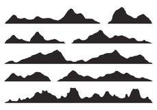 De Vector van bergensilhouetten royalty-vrije illustratie