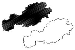 De vector van de Bolukaart vector illustratie