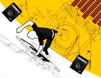 De vector van Breakdance Stock Afbeeldingen