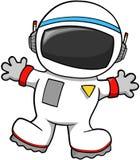 De Vector van de astronaut Stock Foto's