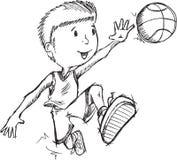 De Vector van de basketbalspeler Royalty-vrije Stock Afbeelding