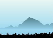 De vector van de berg Royalty-vrije Stock Foto's