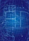 De vector van de blauwdruk Royalty-vrije Stock Foto