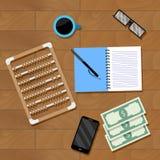 De vector van de boekhoudingswerkplaats Royalty-vrije Stock Foto