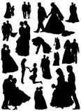 De vector van de bruid en van de bruidegom Stock Afbeelding