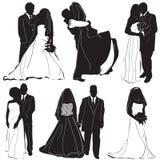 de vector van de bruidbruidegom Stock Foto's