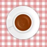 De vector van de Cappuccino's van de liefde Stock Fotografie