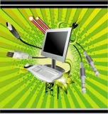 De vector van de computer Stock Foto's
