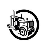 De vector van de de containeraanhangwagen van de vrachtwagenlading Stock Afbeeldingen