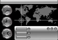 De vector van de de kaarttijd van de wereld Stock Foto's