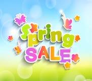De vector van de de lenteverkoop Stock Foto's