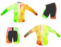 De vector van de de sportent-shirt van de fietskleding Stock Fotografie