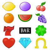 De vector van de de symboleninzameling van de casinogroef Royalty-vrije Stock Afbeelding
