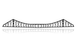 De vector van de de veerbootbrug van de spoorweg vector illustratie