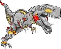 De Vector van de Dinosaurus van de Tyrannosaurussen van de robot vector illustratie