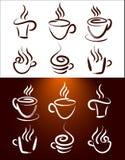 De Vector van de Emblemen van de koffie Stock Foto