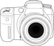 De vector van de fotocamera trekt Royalty-vrije Stock Foto