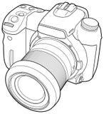 De vector van de fotocamera trekt Royalty-vrije Stock Afbeelding
