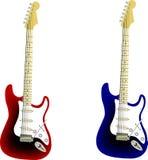 De vector van de gitaar Stock Afbeeldingen