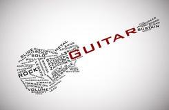 De vector van de gitaar Stock Fotografie
