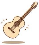 De vector van de gitaar Royalty-vrije Stock Foto