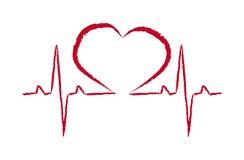 De vector van de het hartimpuls van het reddingssymbool Stock Foto's