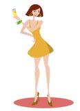 De vector van de het meisjesillustratie van de partij Royalty-vrije Stock Foto