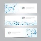 De vector van de het netwerktechnologie van de ontwerpbanner medische achtergrond Royalty-vrije Stock Afbeeldingen