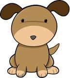 De Vector van de Hond van het puppy Royalty-vrije Stock Afbeeldingen